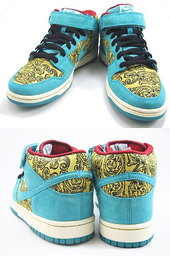 quality design 0919b 4a5ee Nike Dunk SB Mid Peacock - Vintage Floral
