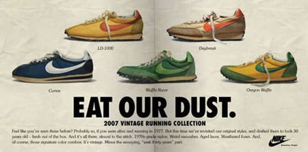 Nike Vintage Running Site Launch