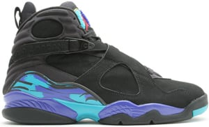 Air Jordan 8 (VIII) Retro Aquas Black/Bright Concord-Aqua Tone