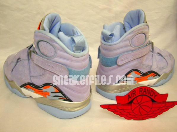 Air Jordan Retro 8 Womens Ice Blue Detailed Look