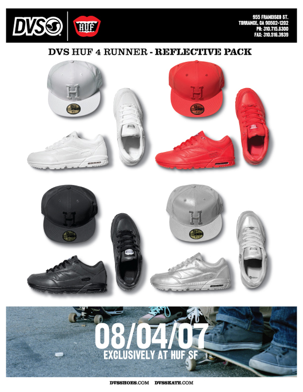 DVS x HUF 3M Pack Release Information