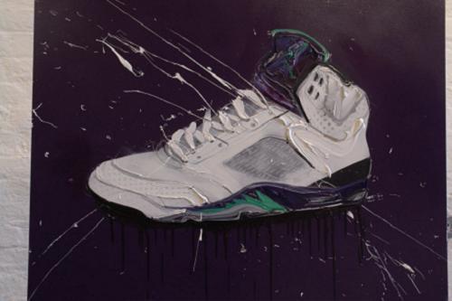 New Dave White Air Jordan Paintings