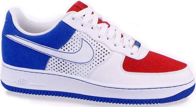 nike air force 1 white blue red