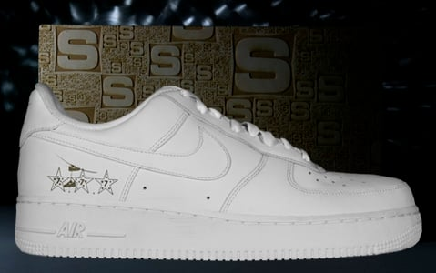 Nike Air Force 1 Sole Bar Lasered