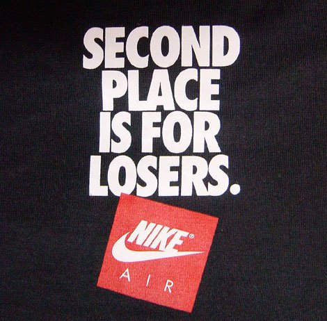 Nike Second Place is for Losers Tee at Purchaze