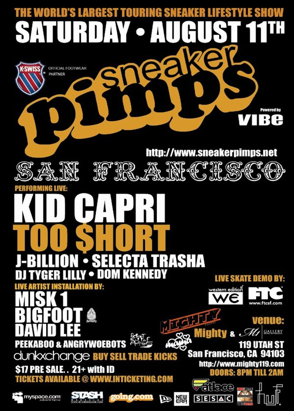 Sneaker Pimps San Francisco August 11th