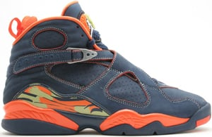 Air Jordan 8 (VIII) Midnight Navy/Pea Pod-Orange Blaze