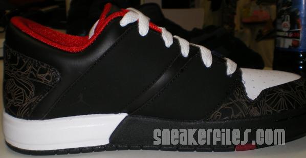 Jordan 1 Nu Retro Womens Black/White/Red Detailed Look
