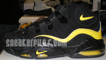 a120e437224 Nike Air Max Sensation Black Yellow Detailed Look