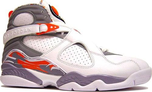 Nike Air Jordan 8 VIII Retro White Orange Blaze at Purchaze