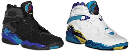bc67589259f1b0 Release Date Reminder  Air Jordan 8 Aqua and Womens White Aqua ...