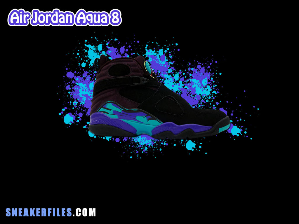 Sneaker Files x Air Jordan 8 Aqua Wallpaper