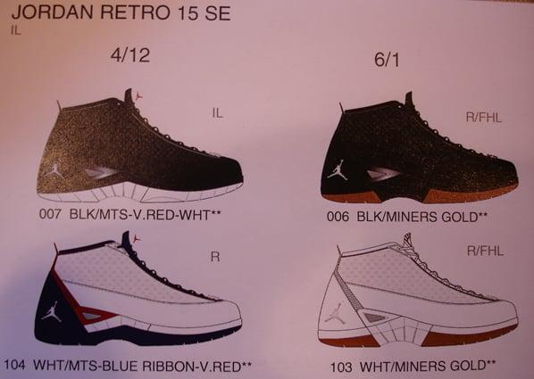 Air Jordan 15 SE More Colorways