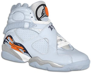 Air Jordan 8 (VIII) Retro Womens Ice Blue/Orange Blaze-Silver