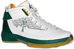 Air Jordan XX2 P.E. Seattle White/Forest Green-Varsity Maize