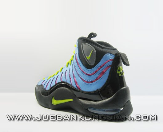 Womens Nike Air Bakin Retro Black/Blue/Yellow/Red