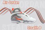 Air Jordan 8 Stealth Wallpaper