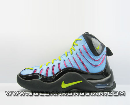 83ccdaaf25fc Womens Nike Air Bakin Retro Black Blue Yellow Red