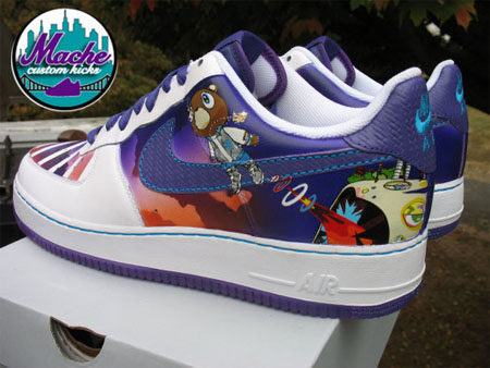 MACHE Custom Kanye West Graduation Nike Air Force One