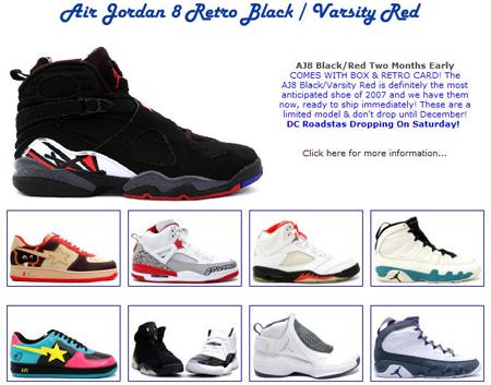 Jordan VIII Black/Red At Kixclusive Now!