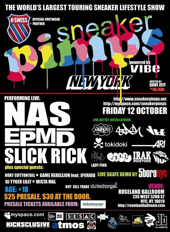 Sneaker Pimps New York Friday October 12th
