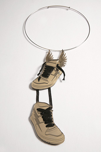 Wingtips: Sneaker Necklace