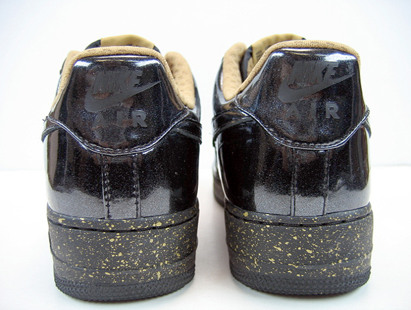 Nike Womens Air Force 1 Charles Barkley Black/Gold and White/Gold