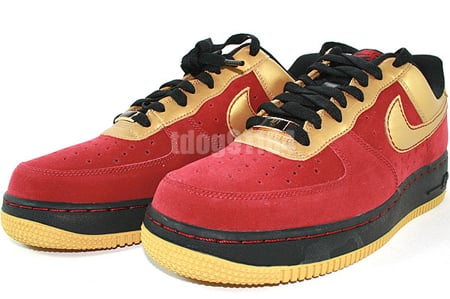 Womens Nike Air Force 1 Charles Barkley Team Red/Gold/Black