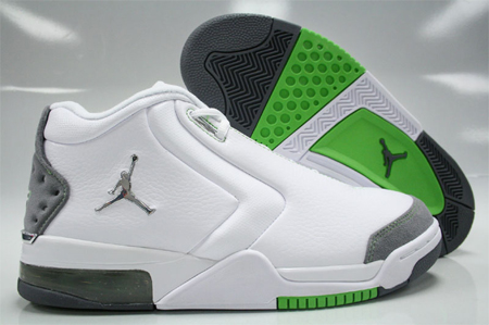 Jordan Big Fund White/Metallic Silver/Green Bean