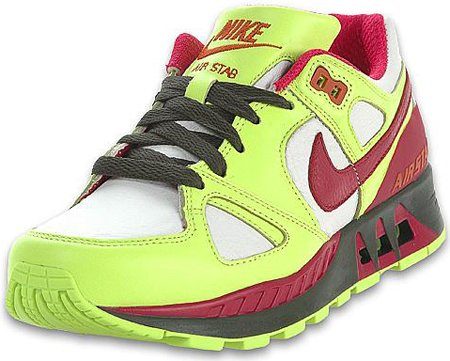 Nike Air Stab Womens White/Volt/Dark Army