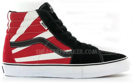 vans sk8 hi black red