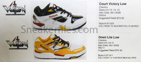 Reebok x Voltron Package