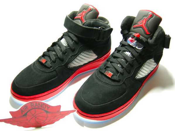 Air Jordan 5 x AF1 Fusion Black/Red