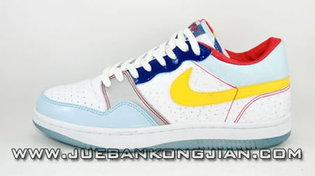 Nike Court Force Low - Blue/Red/Yellow