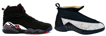 Air Jordan Retro Playoff 8 and Lasered 15 Release Reminder