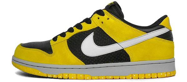 Nike Black White Yellow Dunks Thoughts Edition