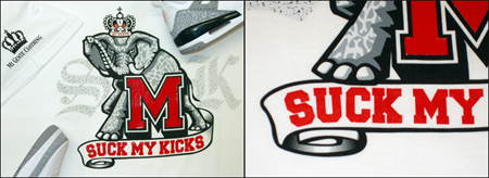 Suck My Kicks Mi Gente Varsity T-Shirts