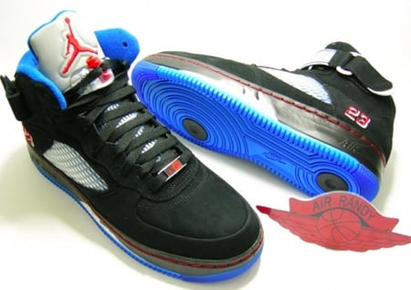 Air Jordan 5 (V) Fusion Black/Varsity Blue-Blue Ribbon