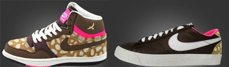 Womens Nike Court Force Hi and Blazer Low - Bambi