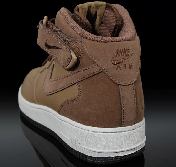 best service 6197c 269e5 Nike Air Force 1 Mid Shades Of Brown