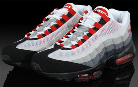 nike air max 95 chilling red color