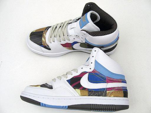 Nike Womens Patchwork Court Force Hi Premium