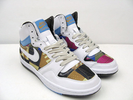 Nike Womens Patchwork Court Force Hi Premium
