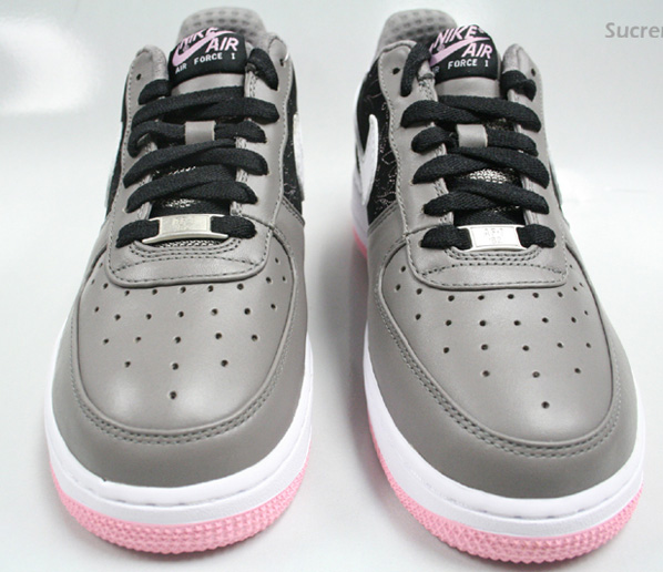 312f8 313c9 nike womens air force 1 le grey pink huge selection of ... 0bb506314bbf
