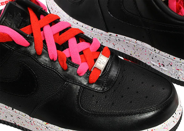 Nike Womens Air Force 1 Supreme - Black/Engine/Laser Pink