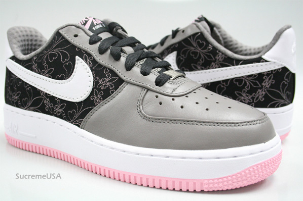 312f8 313c9 nike womens air force 1 le grey pink huge selection of ... 23d93d567f