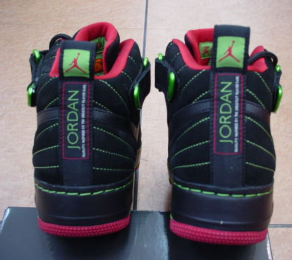 Air Jordan Force Fusion 12 Black Varsity Red-Green Bean  cc1e33c92300