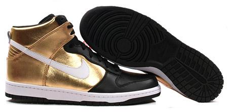 Nike Dunk High - Metallic Gold/White/Black