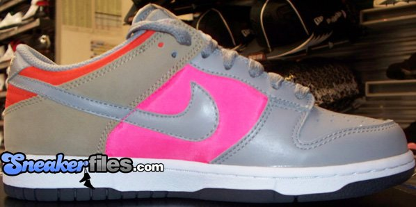 Nike Dunk Low Womens Grey/Pink/Tweed