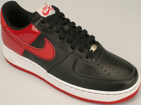 Nike Air Force One - Black/Red Patent Leather